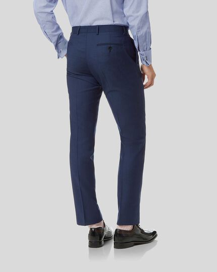 Herringbone Suit Trousers- Royal Blue