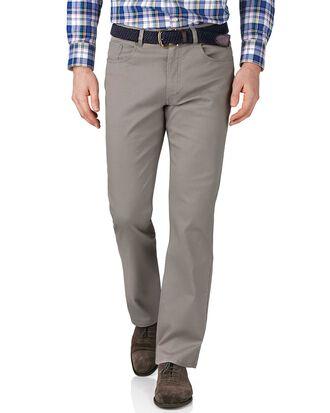 Silver classic fit stretch pique 5 pocket pants