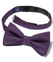 Purple silk plain classic ready-tied bow tie