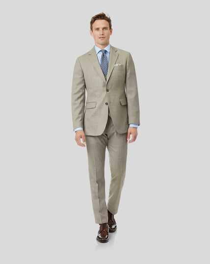 Textured Suit - Stone