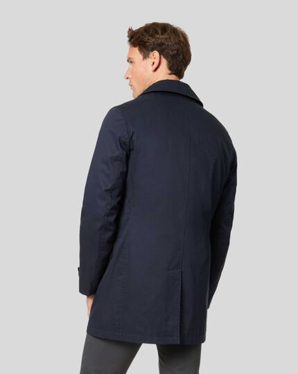 Italian Raincoat - Navy