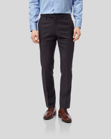 Top Drawer Suit Pants - Aubergine