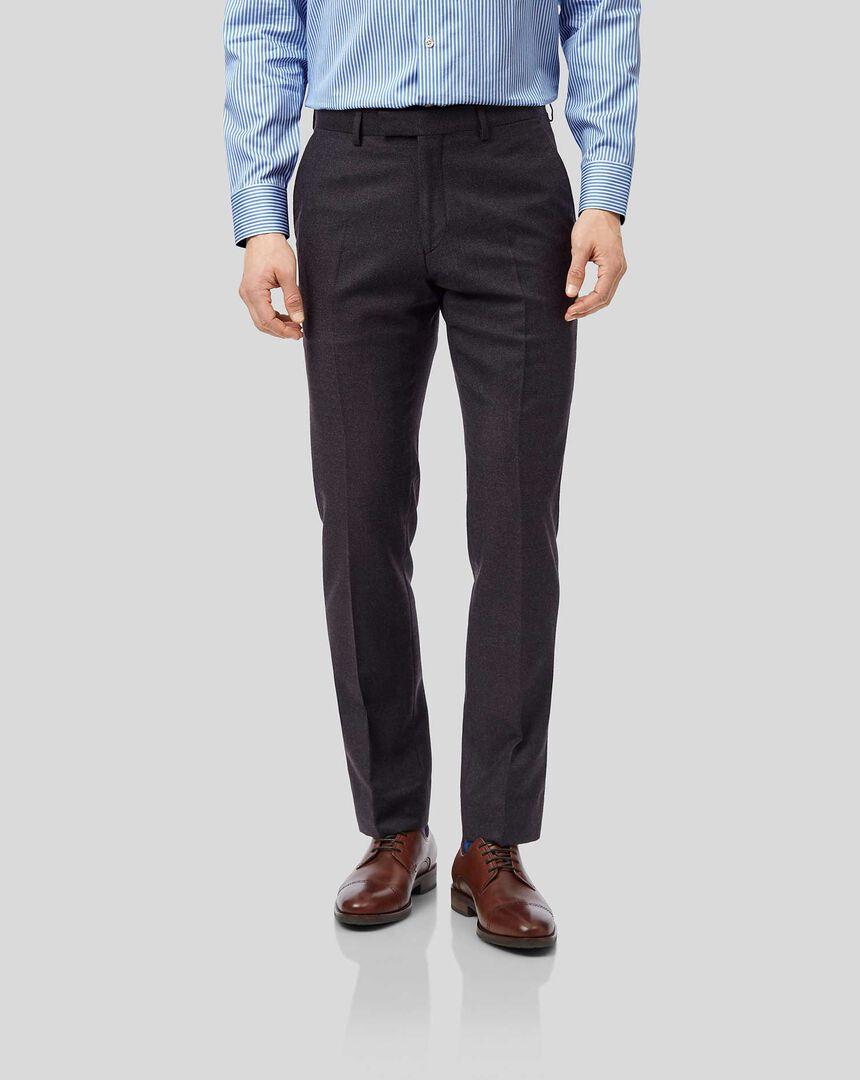 Top Drawer Suit Pants - Aubergine