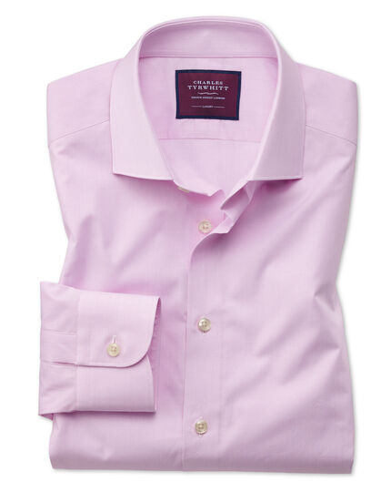 Classic fit pink fine stripe luxury shirt