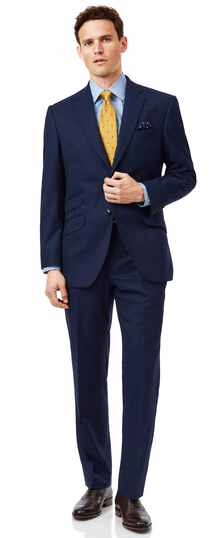 Blue classic fit British luxury suit