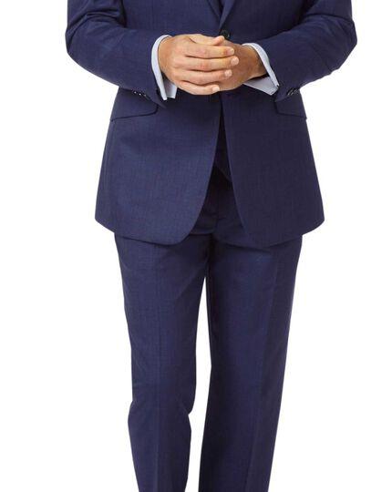Indigo slim fit hairline business suit jacket