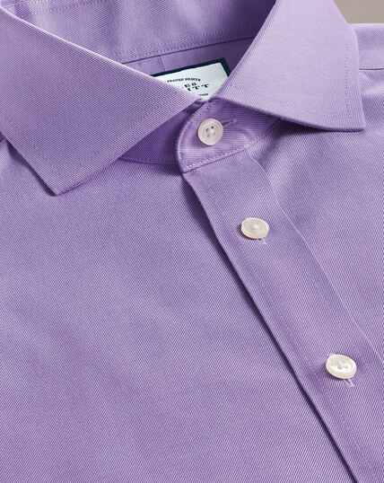 Non-Iron Twill Spread Collar Shirt - Lilac