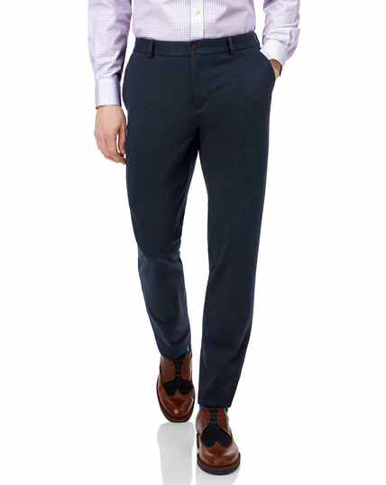 Reise-Chinos Slim Fit Bügelfrei in Marineblau