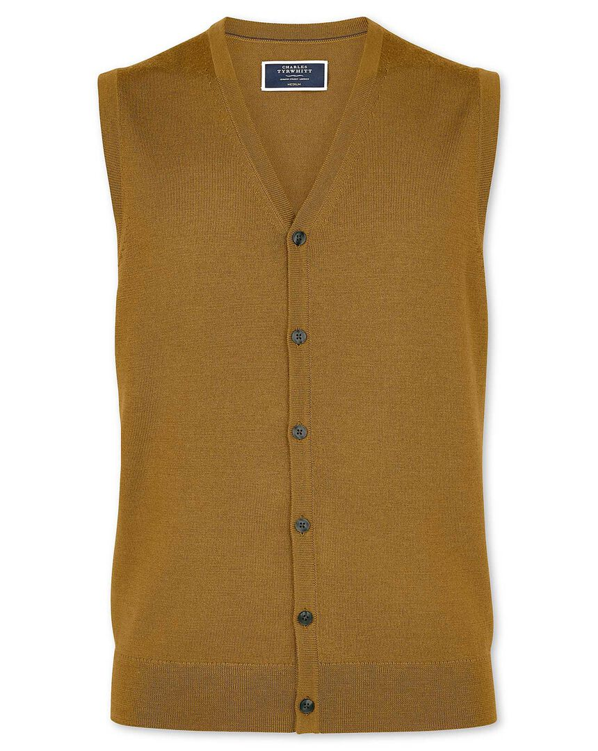Dark yellow merino vest