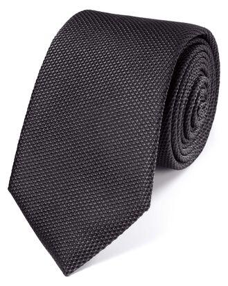 Cravate classique charcoal en soie