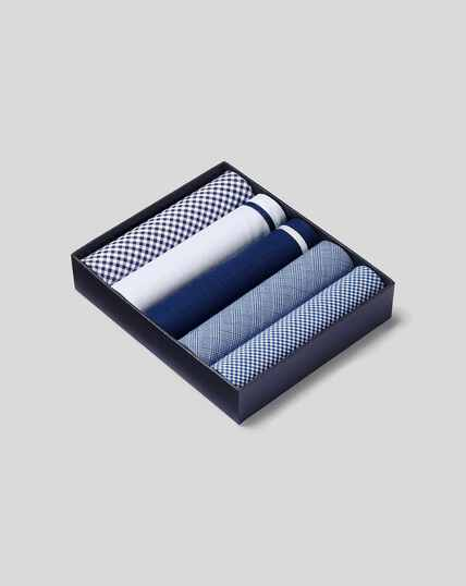 Handkerchief Box Set - Blue