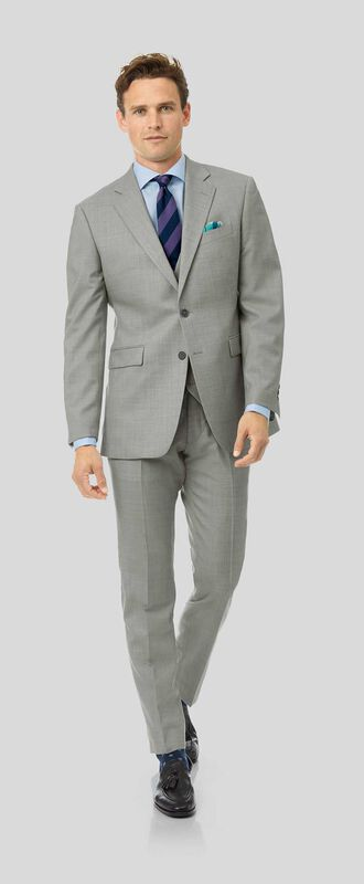 Sharkskin Travel Suit - Silver