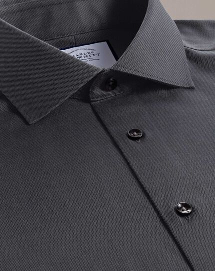 Slim fit business casual charcoal royal Oxford shirt