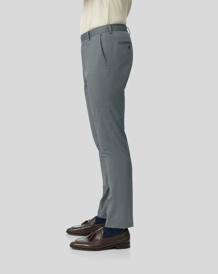 Non-Iron Stretch Trousers - Navy