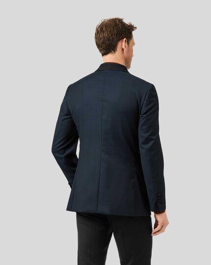 Shawl Collar Tuxedo Jacket - Teal