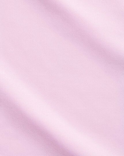 Slim fit pink non-iron twill spread collar shirt