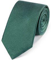 Cravate classique verte en soie