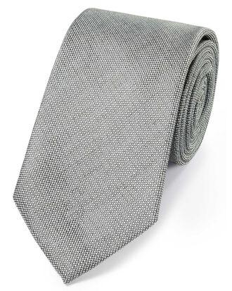 Klassische Krawatte aus Seidenleinen in Grau