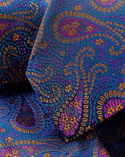 Silk Paisley English Luxury Tie - Multi