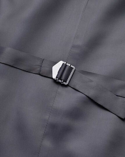 Steel blue adjustable fit twill business suit waistcoat