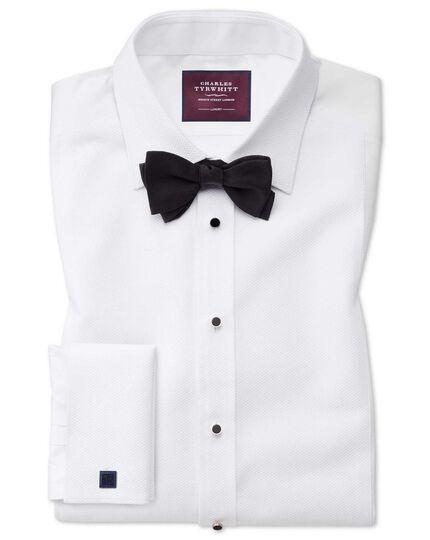 Slim fit luxury Marcella bib front white tuxedo shirt