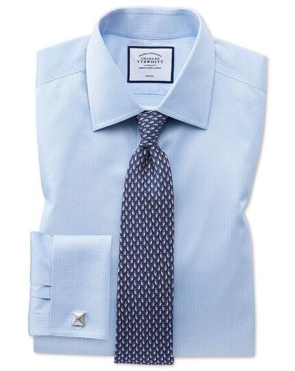 Navy owl print silk classic tie