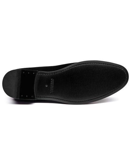 Schuhe aus Samt in Schwarz