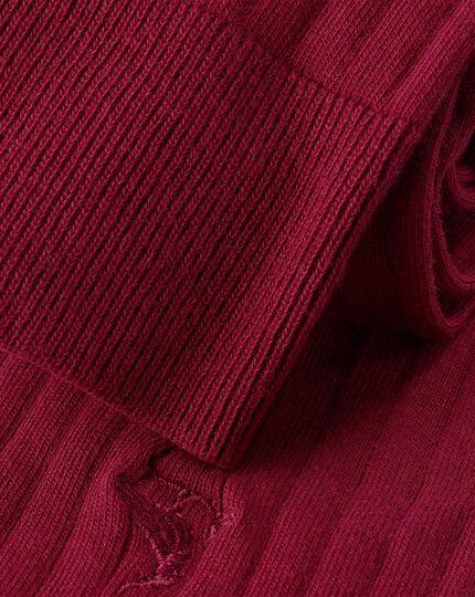 Rippstrick-Baumwollsocken - Rot