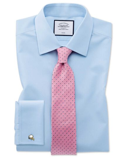 Pink and blue spot stain resistant  classic tie