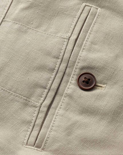 Stone classic fit easy care linen Pants