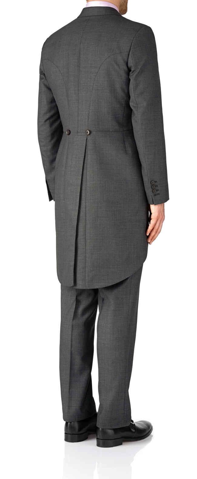Dark grey classic fit morning suit