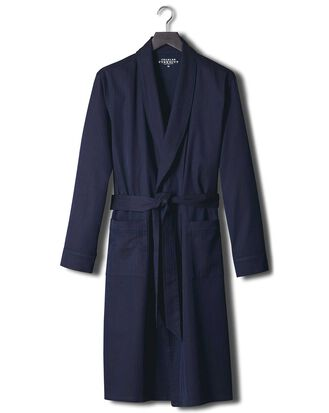 Navy herringbone robe