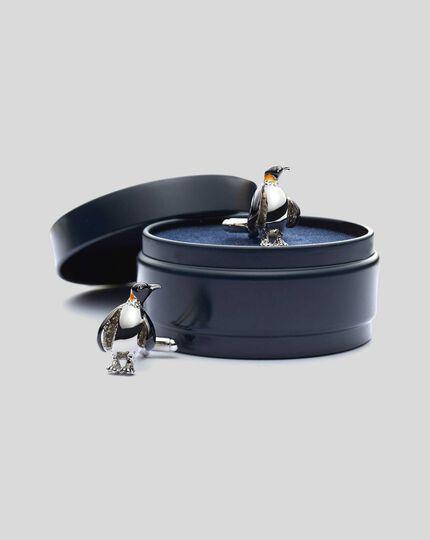Manschettenknöpfe mit Pinguin-Design