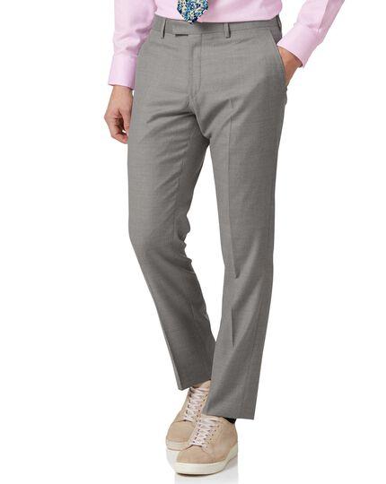 Silver slim fit Italian suit pants