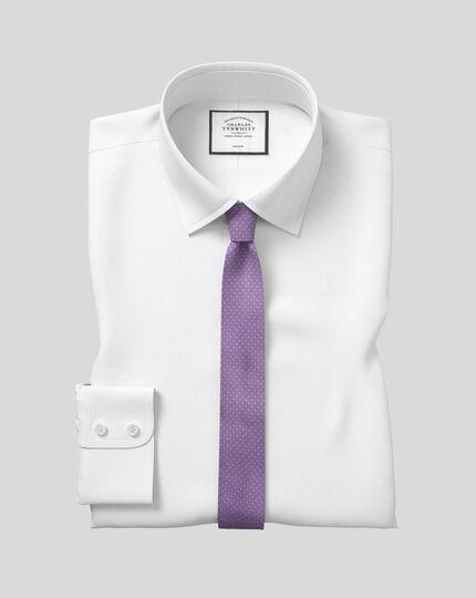 Chemise en oxford royal à col classique sans repassage  - Blanc