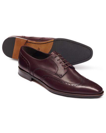 Burgundy Derby brogue shoes