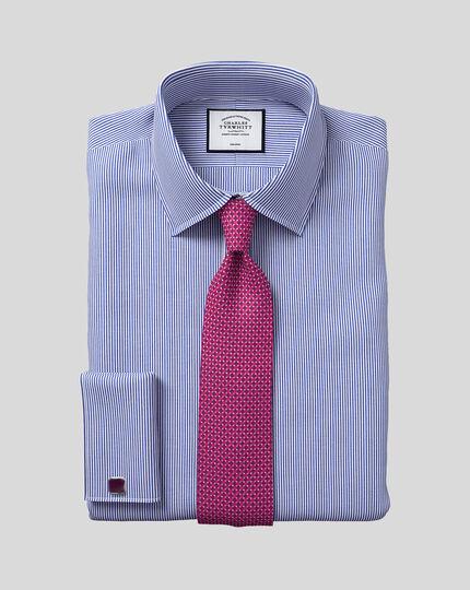 Classic Collar Non-Iron Bengal Stripe Shirt - Navy