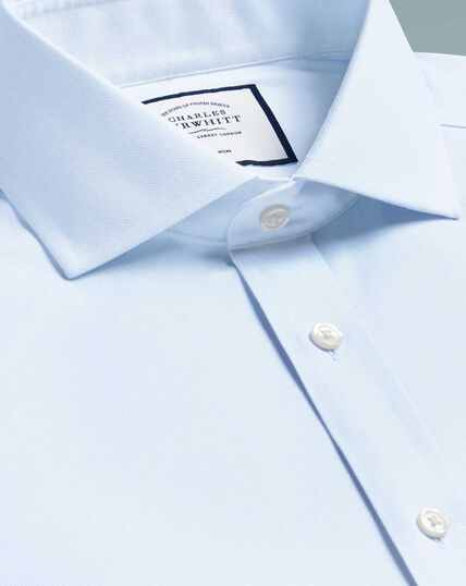 Cutaway Non-Iron Cotton Stretch Shirt - Light Blue