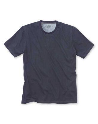 T-Shirt aus Baumwolle in Marineblau