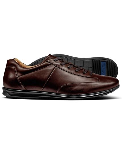 Brown work trainers