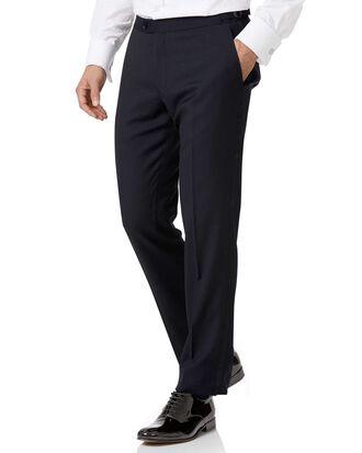 Midnight blue slim fit tuxedo pants