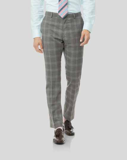 Check Suit Pants - Light Grey