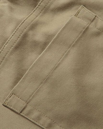 Tan slim fit 5 pocket Pants