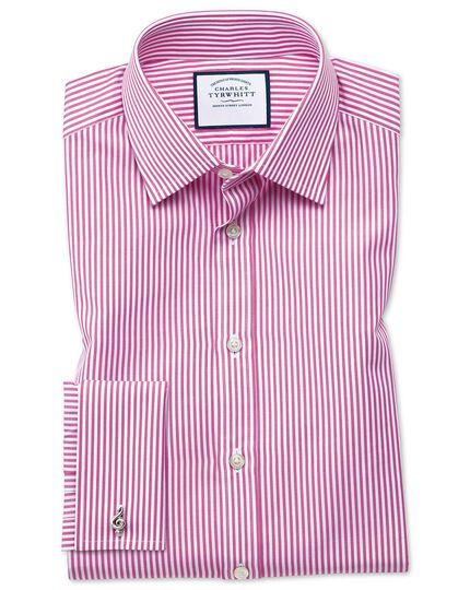 Extra slim fit Bengal stripe pink shirt