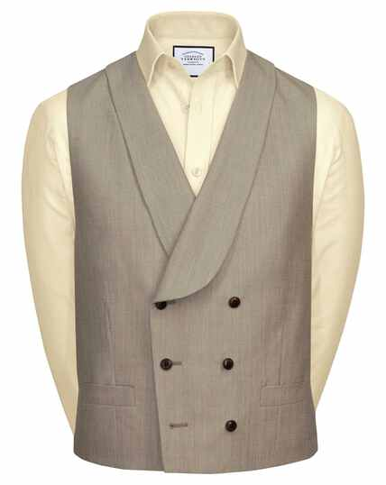 Natural adjustable fit British suit waistcoat