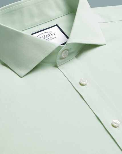 Spread Non-Iron Poplin Shirt - Green