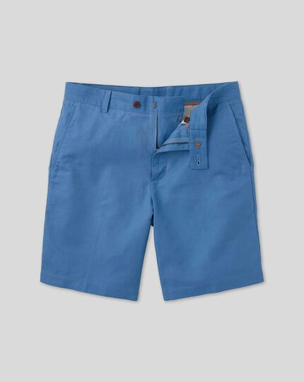 Cotton Linen Shorts - Bright Blue