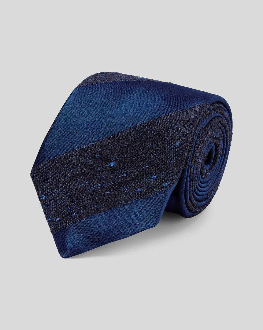 Silk Stripe English Heritage Luxury Tie - Navy