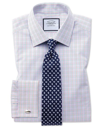 Klassische Krawatte aus Seide mit Rautenmuster in Marineblau und Weiß