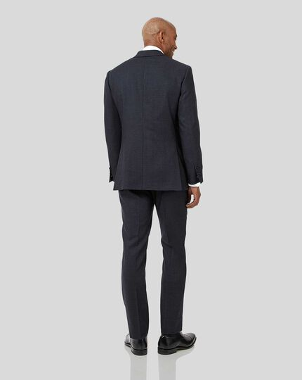 Semi-Plain Suit - Navy